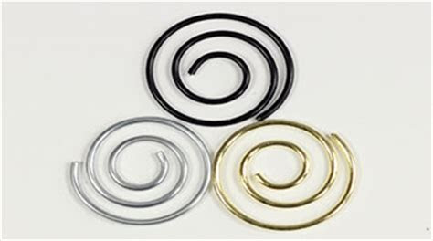 Decorative Paper Clips   Spiral & Heart Shaped