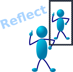 Blue Stick Man Reflect Clip Art