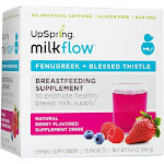 UpSpring Milkflow Fenugreek Drink Mix, Berry - 18 packets, 6.4 oz box