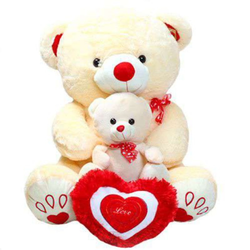 Buy Cute Peach Mother Baby Love Teddy Bear Online At Lowest Price In