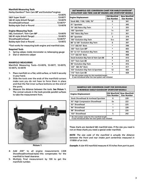 S&S Cycle Manifold/Engine Measuring Tools User Manual