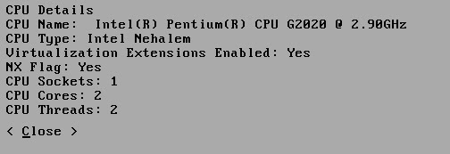 My system CPU