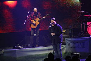 English: MercyMe lead singer Bart Millard and ...