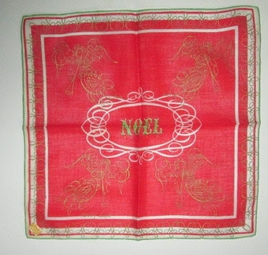 Tammis Keefe Noel, Christmas Hanky, New With Tag - Zarahs