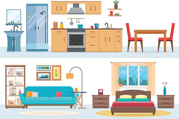 Bedroom Clip Art, Vector Images & Illustrations - iStock