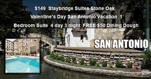 Valentine's Day San Antonio Vacation at Staybridge Suites Stone Oak from $149 Deal 82252