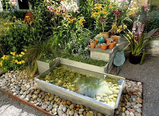 Interesting Garden water features