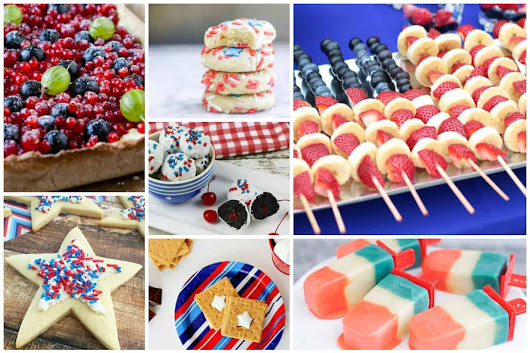 Patriotic Treats and our Delicious Dishes Recipe Party