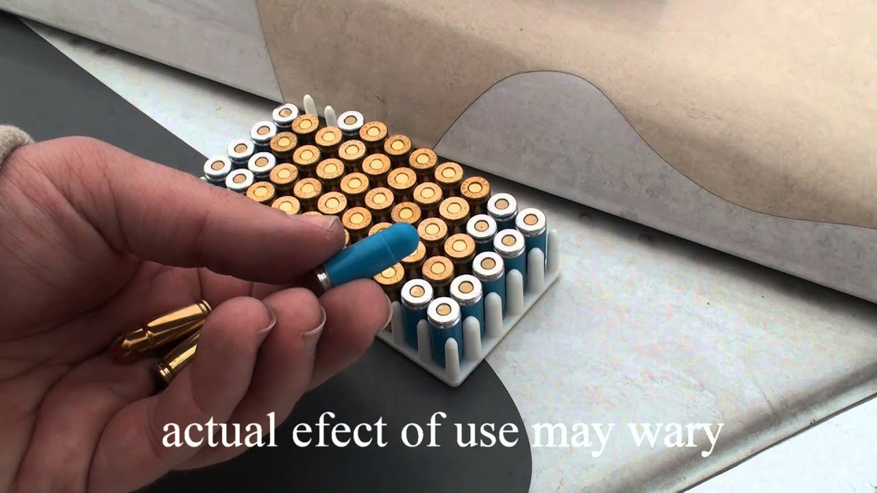 non-lethal 9mm luger plastic bullet and blank acoustic ammunition ...