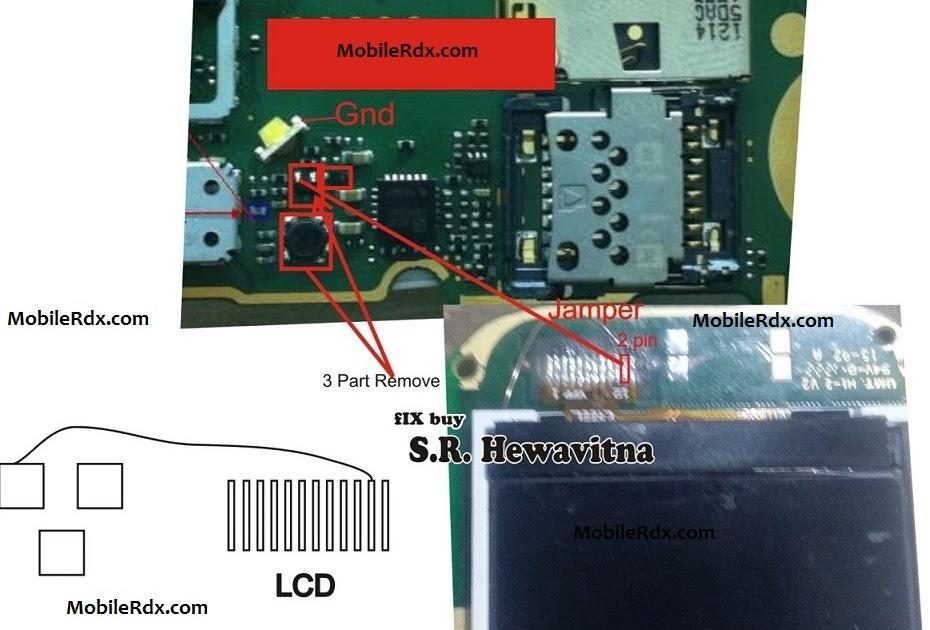 Nokia 110 Lcd Display Light Problem Jumper New Hardware ...