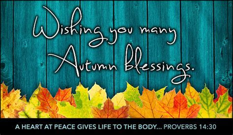 Free Autumn Blessings eCard   eMail Free Personalized