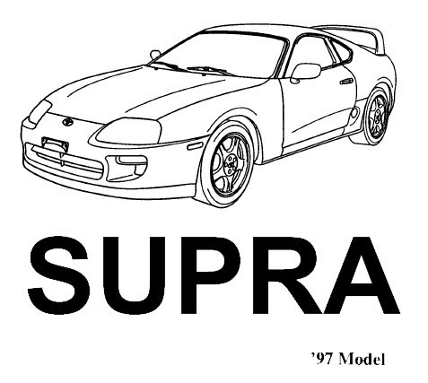 Toyota Supra MKIV 1997 facelift model repair manual