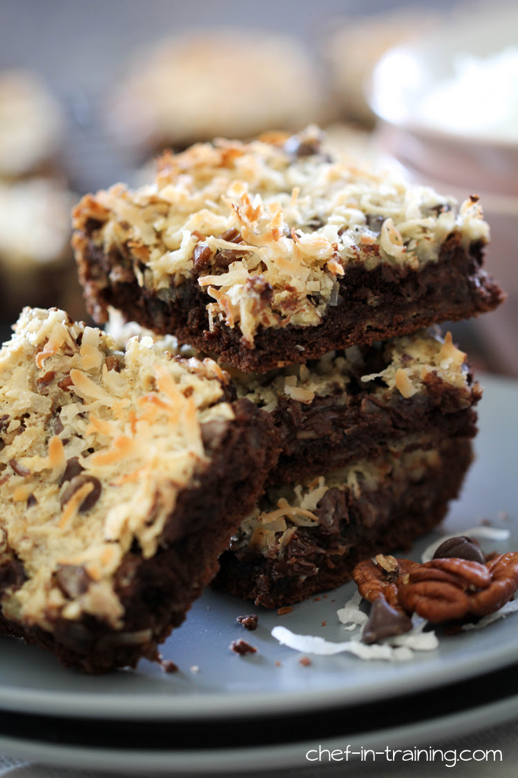 Coconut Chocolate Bars - Chef in Training