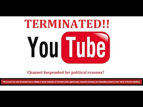 Liberty Activist YouTube Channel suspended! We believe for political reasons