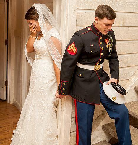 "Marine's Wedding Prayer Photo Goes Viral: ""I Prayed To God"