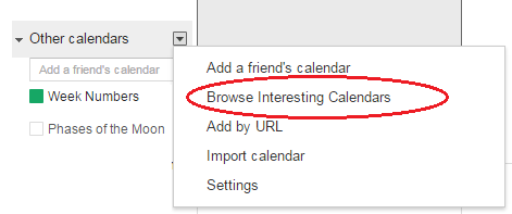 How to add week Numbers to your Google Calendar