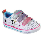Skechers Girls' Twinkle Toes Sparkle Lite Stars The Limit Sneaker