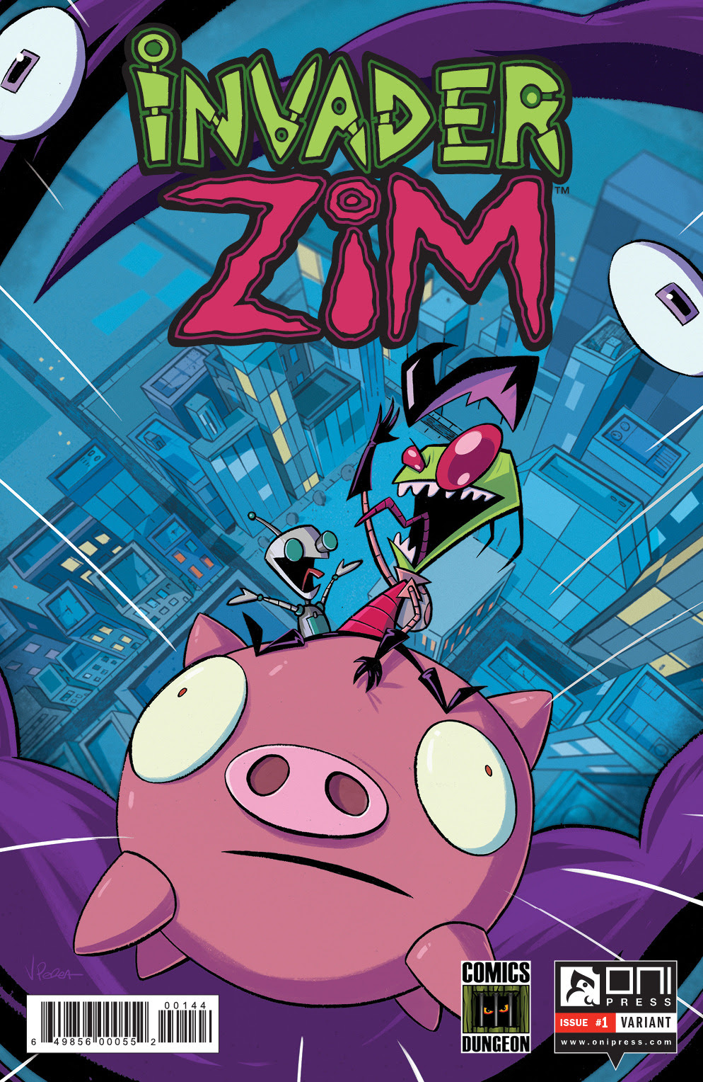 click for more comic book art and more Zim!!