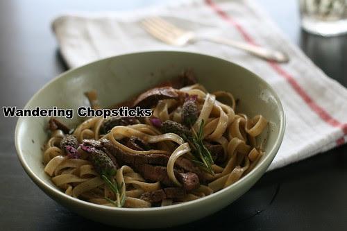 Lavender-Grilled Steak Fettucine 2