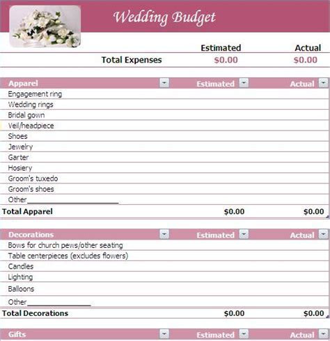 Wedding Budget   Wedding Budget   Wedding budget planner
