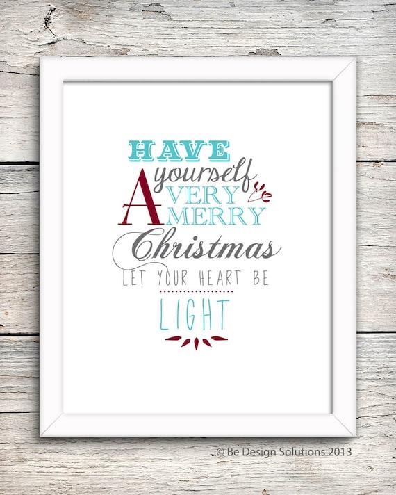 A4 Christmas Wall Art  - Printable