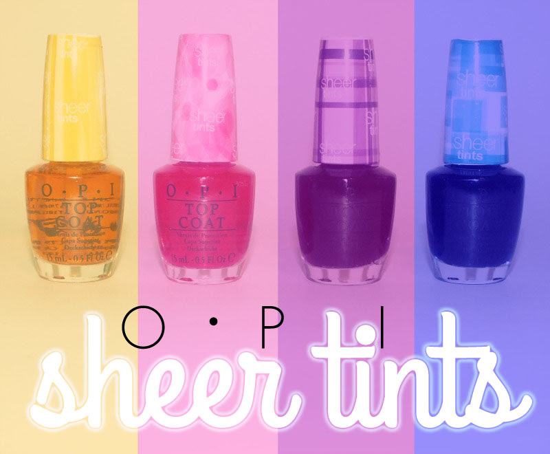 OPI Sheer Tints- Amberassed, Magentale, Violet, and Teal (2)