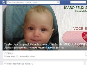 Evento foi criado no Facebook para divulgar dias e local para doações  (Foto: Reprodução /Internet)