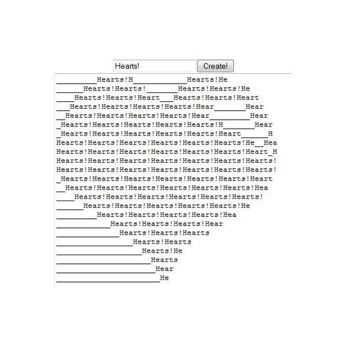 Heart Ascii Symbol Image Collections Symbol Text Art