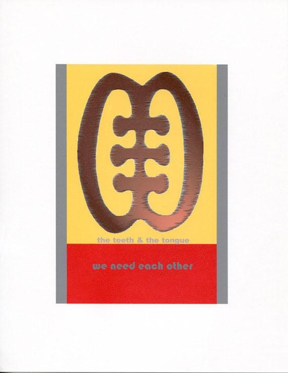 We Need Each Other - ESE NE TEKREMA -  Adinkra Symbol - Archival Art Print