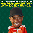 Woods to win The Open enhanced price promotion