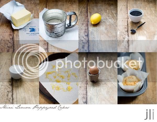 little lemon poppyseed cakes
