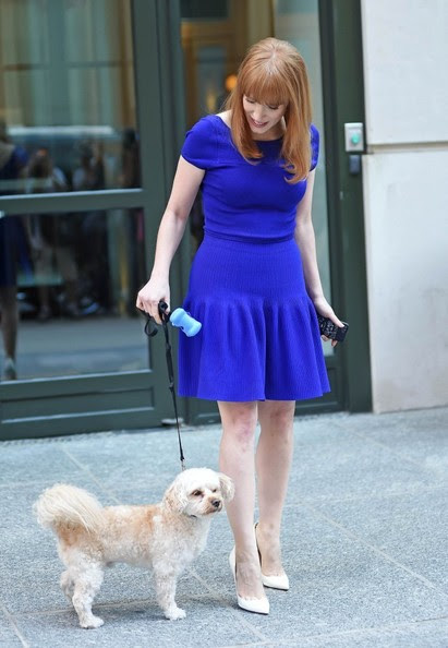Jessica Chastain - Jessica Chastain Is All Smiles in NYC