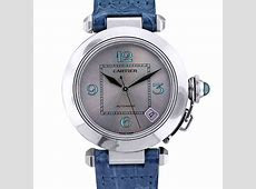 Cartier Pasha C 35MM Watch on Blue Leather Strap Boca Raton