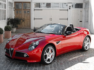 1001 Car Wallpapers: Alfa Romeo 8C Spyder sports car