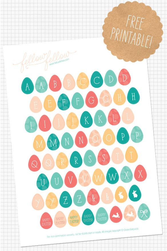 22 Fabulous Free Printables For Easter | Easter, Stickers and ...