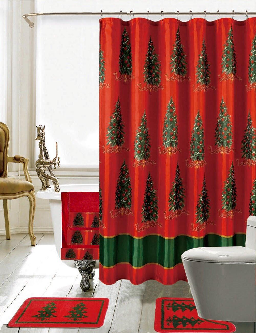 Daniels Bath Christmas Bathroom Decor 18 Piece Shower ...