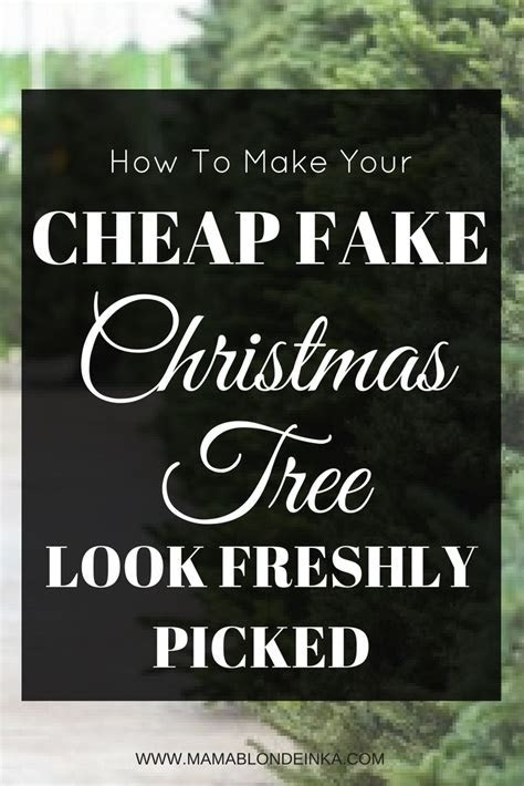 How To Make Your Cheap Fake Christmas Tree Look Real