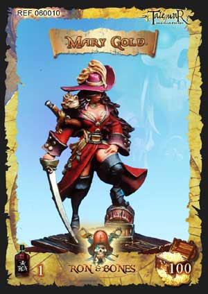 Ron & Bones - Pirate Miniatures: Mary Gold