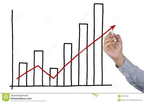 businessman drawing bar graph stock photo image