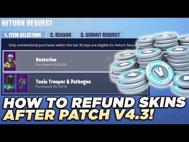 How To Refund Fortnite Purchases Ps4 | Fortnite V Bucks