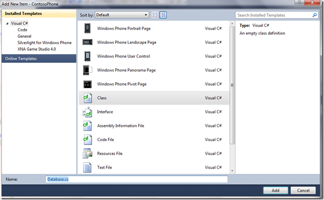 WP74 thumb Windows Phone 7 Line of Business App Dev :: Consuming an Azure WCF REST + JSON Service