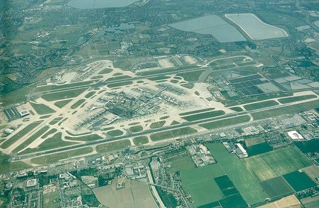 Officials at Heathrow (pictured) have vehemently opposed the plans, saying an extra runway is the solution to Britain's air capacity woes