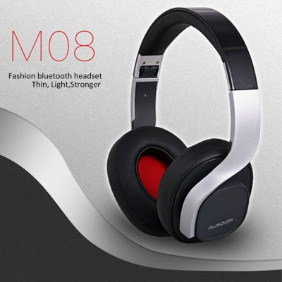 AUSDOM M08 Bluetooth Stereo Headset-40.37 and Free Shipping| GearBest.com