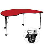 48x72 Kdny Red Activity Table