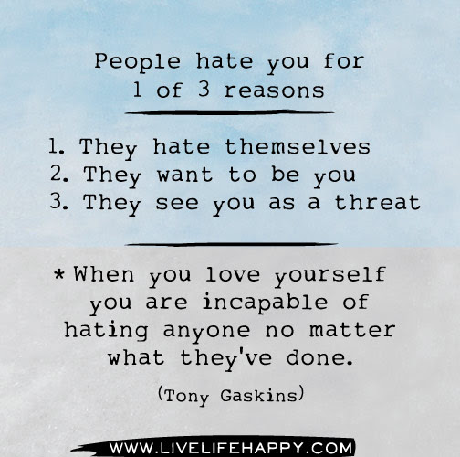 People Hate You For 1 Of 3 Reasons Live Life Happy