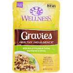 Wellness Pet Grain Free Gravies Healthy Indulgence Adult Cat Food Chicken & Turkey Smothered in Gravy 3 oz.