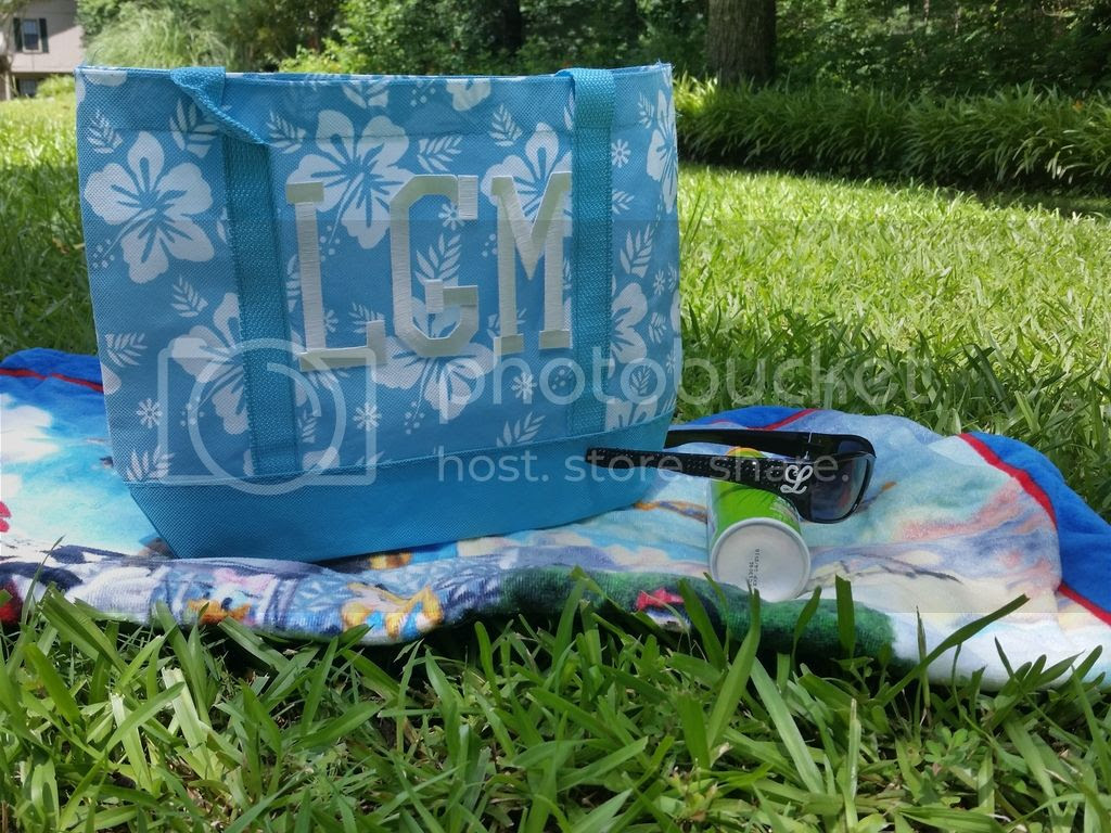 monogrammed fabric tote