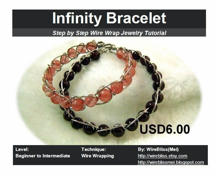 Tutorial for wire wrapped infinity bracelet