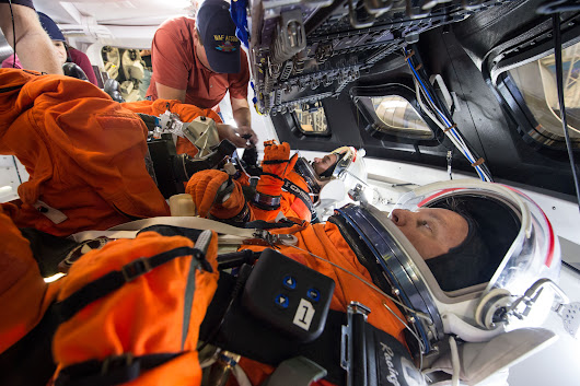 Orion Spacecraft Suited Crew Testing