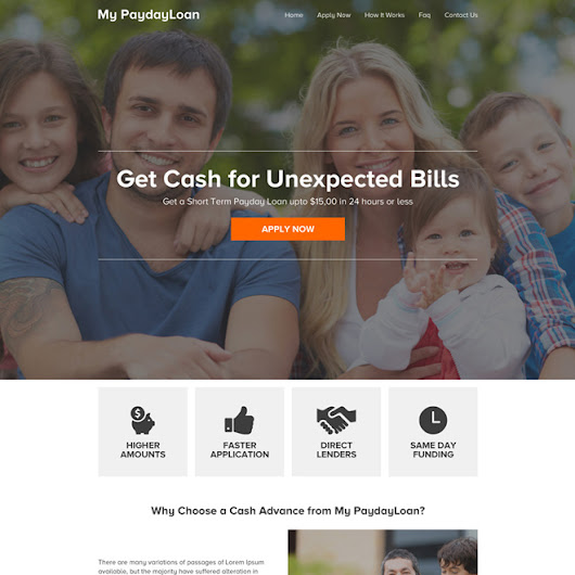 responsive payday loan online application website design